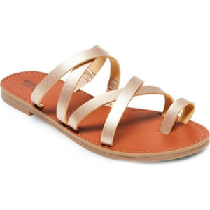 Mossimo Gold Strappy Slide Sandals